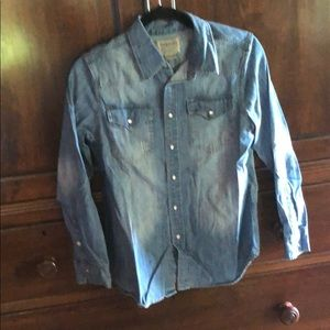 Boys Long Sleeve Denim Shirt